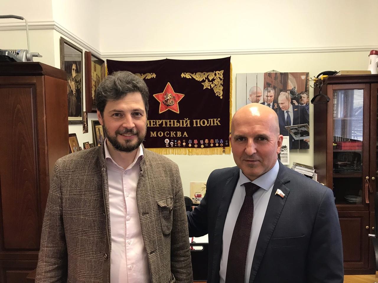 Вчера встречался с депутатом Государственной думы Николаем Георгиевичем Земцовым